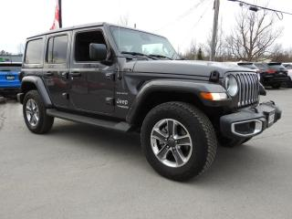 Used 2020 Jeep Wrangler Unlimited Sahara 4x4- NAV- TOW- Adaptive- Only 6,400 KMS for sale in Trenton, ON