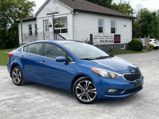 Used 2014 Kia Forte LOW KMS No-Accidents EX BackupCam Bluetooth Gas Saver for sale in Sutton, ON