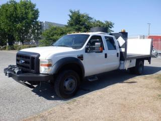 Used 2008 Ford F-450 SD Flat Deck 12 foot Crew Cab 4WD Dually Diesel Power Tailgate With Winch for sale in Burnaby, BC