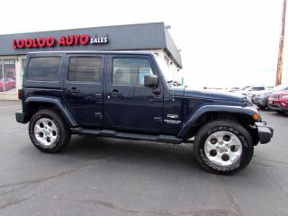 Used 2013 Jeep Wrangler Unlimited Sahara 4WD Auto Navigation Bluetooth Certified for sale in Milton, ON