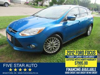 Used 2012 Ford Focus SEL *Clean Carfax* Certified w/ 6 Month Warranty for sale in Brantford, ON