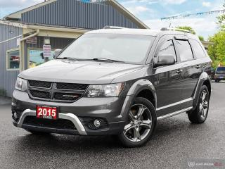 Used 2015 Dodge Journey Crossroad,7 PAS,R/V CAM,DVD,LEATHER INT for sale in Orillia, ON