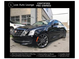 Used 2017 Cadillac ATS Luxury AWD - CARBON BLACK PKG, RECARO SEATS, NAV! for sale in Orleans, ON