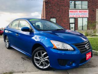 Used 2014 Nissan Sentra SR~NAV~B.T~B.UP CAM~HTD SEATS~SNRF~CLEAN CARFAX for sale in Rexdale, ON
