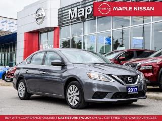 Used 2017 Nissan Sentra SV Bluetooth Backup Camera Push Start for sale in Maple, ON