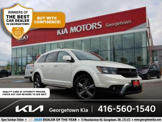 Used 2017 Dodge Journey CROSSROAD| CLN CRFX| 7 PASS| NAV | SUNROOF| LEATHR for sale in Georgetown, ON