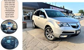 Used 2010 Acura MDX AWD Elite Pkg safety NO ACCIDENT NAVIGATION BLIND for sale in Oakville, ON