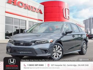 New 2022 Honda Civic LX REARVIEW CAMERA   APPLE CARPLAY™ & ANDROID AUTO™   HONDA SENSING TECHNOLOGIES for sale in Cambridge, ON