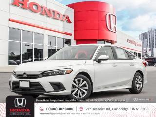 New 2022 Honda Civic LX REARVIEW CAMERA | APPLE CARPLAY™ & ANDROID AUTO™ | HONDA SENSING TECHNOLOGIES for sale in Cambridge, ON