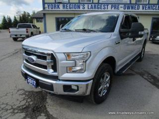 Used 2017 Ford F-150 WORK READY XLT-EDITION 6 PASSENGER 3.5L - TURBO - ECO-BOOST.. 4X4.. CREW-CAB.. SHORTY.. TRAILER BRAKE.. POWER PEDALS.. BACK-UP CAMERA.. for sale in Bradford, ON
