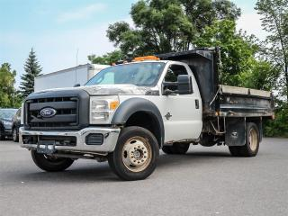 Used 2014 Ford F-550 F550 Regular Cab XL 4x4 with a Dump Truck Box for sale in Ottawa, ON