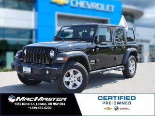 Used 2019 Jeep Wrangler UNLIMITED SPORT for sale in London, ON