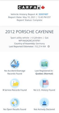 2012 Porsche Cayenne Premium  Navigation/Sunroof/Camera Photo4