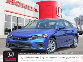 New 2022 Honda Civic EX PUSH BUTTON START | APPLE CARPLAY™ & ANDROID AUTO™ | HONDA SENSING TECHNOLOGIES for sale in Cambridge, ON