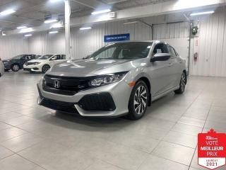 Used 2018 Honda Civic LX HB - S. CHAUFFANTS + JAMAIS ACCIDENTE !!! for sale in Saint-Eustache, QC