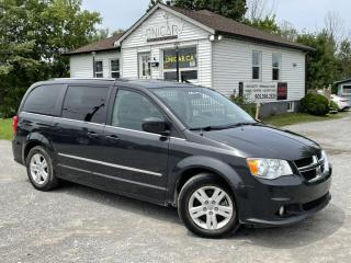 Used 2012 Dodge Grand Caravan 1-Owner Crew Plus Navi Backup Cam Leather Dual DVD Power Doo for sale in Sutton, ON