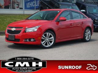 Used 2014 Chevrolet Cruze 2LT  NAV CAM ROOF LEATH HTD-SEATS 18-AL for sale in St. Catharines, ON