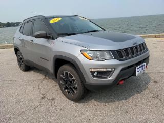 Used 2019 Jeep Compass Trailhawk 4x4 Heated Lether Moon Roof CarPlay for sale in Belle River, ON
