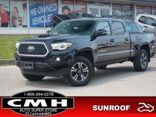 Used 2018 Toyota Tacoma 4x4 Double Cab V6 Auto SR5  NAV BLIND-SPOT ROOF LEATH HTD-SEATS for sale in St. Catharines, ON