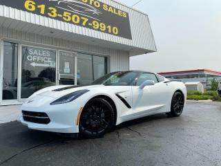 Used 2019 Chevrolet Corvette Stingray Gorgeous Red Leather Interior!! One Owner! Clean CarFax! Targa Top!! for sale in Kingston, ON