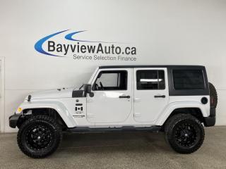 Used 2018 Jeep Wrangler JK Unlimited Sahara - 4X4! NAV! HARD TOP! ONLY 50,000KMS! for sale in Belleville, ON