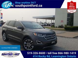 Used 2018 Ford Edge Titanium TITANIUM|AWD|HTD & COOLED SEATS|NAV|SUNROOF|HEATED REAR SEATS for sale in Leamington, ON