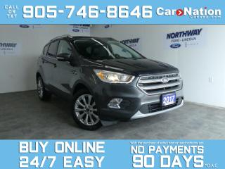 Used 2017 Ford Escape TITANIUM | 4X4 | LEATHER | PANO ROOF | NAV for sale in Brantford, ON