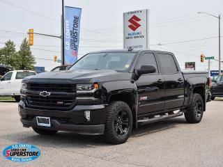 Used 2018 Chevrolet Silverado 1500 LTZ Z71 Crew Cab 4x4 ~Nav ~Cam ~Leather ~Moonroof for sale in Barrie, ON