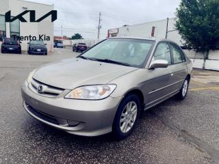 Used 2005 Honda Civic 4dr LX-G Auto Sunroof Alloys A/C Keyless LOW KM  for sale in North York, ON