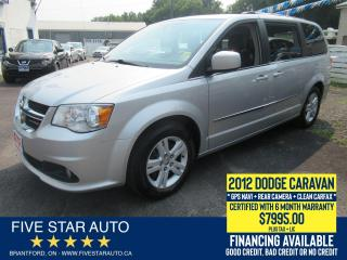 Used 2012 Dodge Grand Caravan Crew+ *Clean Carfax* Certified w/ 6 Mth Warranty for sale in Brantford, ON