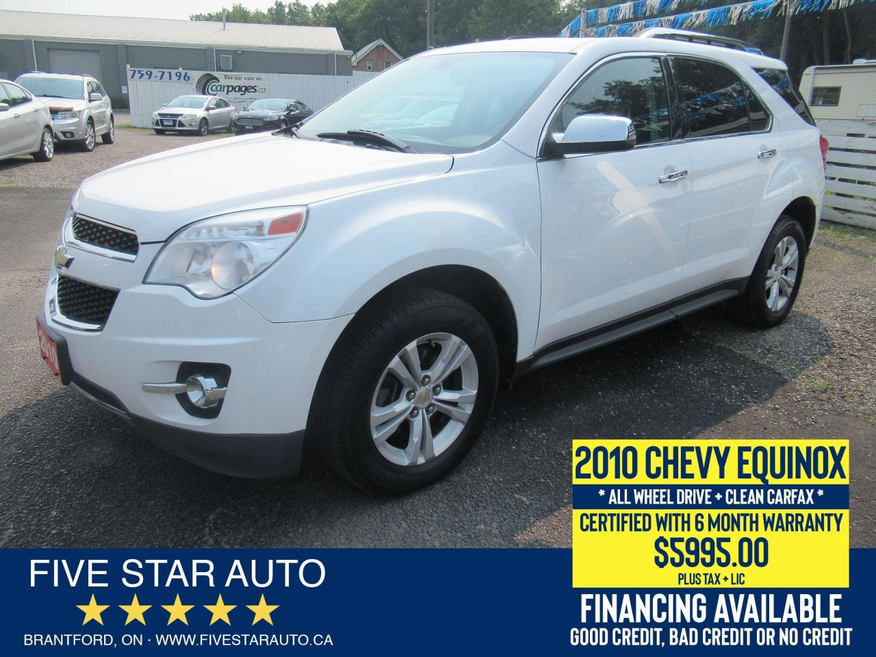 2010 Chevrolet Equinox LT AWD *Clean Carfax* Certified w/ 6 Month Warrant