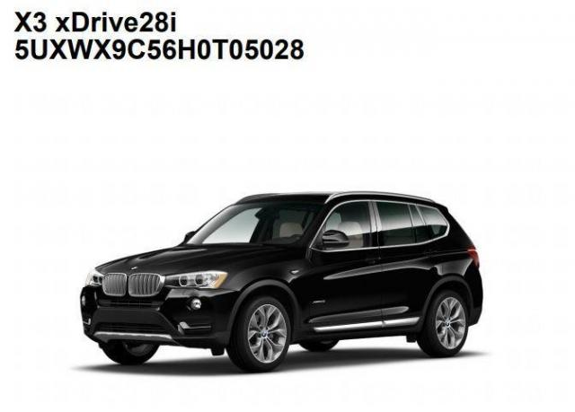 2017 BMW X3 xDrive+GPS+Camera+Pano Roof+Sport Leather Seats