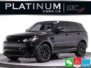Used 2016 Land Rover Range Rover Sport SVR, 575HP, SUPERCHARGED, NAV, PANO, HEATED, HUD for sale in Toronto, ON