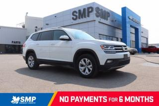 Used 2018 Volkswagen Atlas Comfortline 4Motion, Heated Leather, 3rd Row Seating, Back Up Camera for sale in Saskatoon, SK