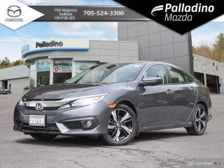Used 2018 Honda Civic Sedan Touring - LOW KMS - FULL LEATHER - PREMIUM SOUND for sale in Sudbury, ON