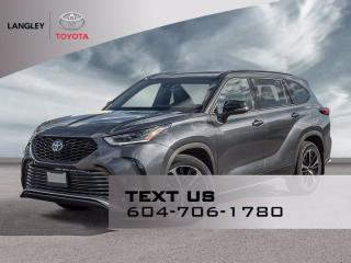 New 2021 Toyota Highlander XSE for sale in Langley, BC