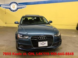 Used 2015 Audi A4 Quattro, S-Line, Navi, B-cam, Sunroof for sale in Vaughan, ON