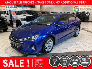 Used 2020 Hyundai Elantra Preferred - Accident Free / No Dealer Fees / Heated Seats for sale in Richmond, BC
