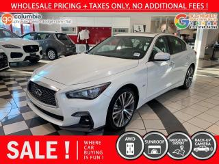 Used 2019 Infiniti Q50 Q50s 3.0t LUXE AWD - No Accident / One Owner / Nav / Sunroof for sale in Richmond, BC