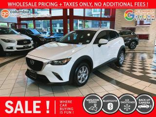 Used 2018 Mazda CX-3 GX - Local / Nav / No Dealer Fees for sale in Richmond, BC