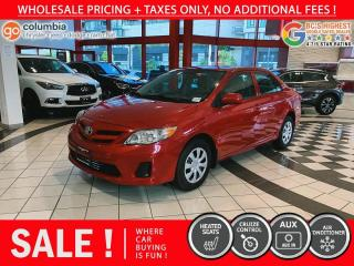 Used 2013 Toyota Corolla CE - Local / No Dealer Fees / One Owner for sale in Richmond, BC