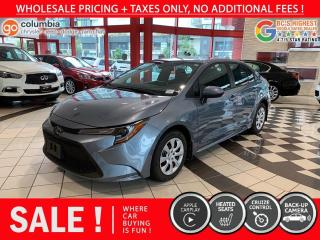 Used 2020 Toyota Corolla LE - No Accident / Local / No Dealer Fees / One Owner for sale in Richmond, BC