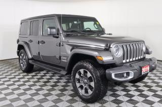 Used 2019 Jeep Wrangler Unlimited Sahara 1 OWNER - NO ACCIDENTS | NAVI | HARD & SOFT TOP | LEATHER | HEATED SEATS & WHEEL for sale in Huntsville, ON