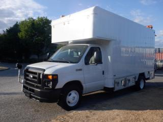 Used 2009 Ford Econoline E-450 Cube Van 14 foot Diesel Rear Workshop for sale in Burnaby, BC