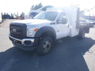 Used 2011 Ford F-450 SD 10 Foot Flat Deck with Crane for sale in Burnaby, BC