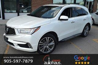 Used 2017 Acura MDX ELITE I NO ACCIDENTS I NAVI I DVD I BSM I LDW for sale in Concord, ON