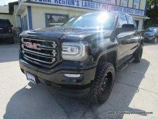 Used 2017 GMC Sierra 1500 GREAT VALUE SLT-ALL-TERRAIN MODEL 5 PASSENGER 5.3L - V8.. 4X4.. CREW-CAB.. SHORTY.. NAVIGATION.. LEATHER.. HEATED SEATS & WHEEL.. BACK-UP CAMERA.. for sale in Bradford, ON