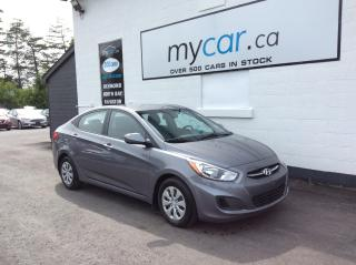 Used 2016 Hyundai Accent GL HEATED SEATS, POWERGROUP, A/C, AWESOME BUY!! for sale in Kingston, ON