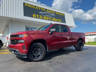Used 2019 Chevrolet Silverado 1500 What a Beauty!! Gorgeous 2019 Silverado Custom!! Bed Liner! Fuel Black Wheels! for sale in Kingston, ON