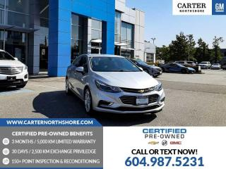 Used 2018 Chevrolet Cruze Premier Auto LEATHER - PWR DRIVER SEAT - HEATED SEATS for sale in North Vancouver, BC